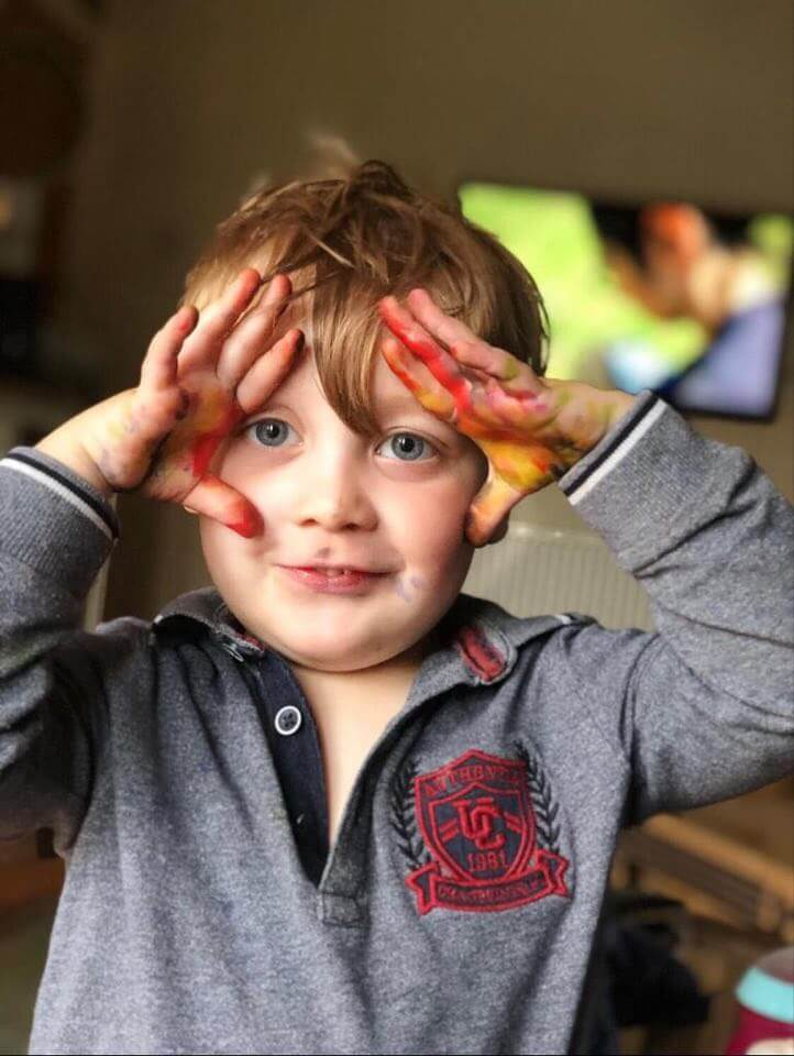 Messy fun play for sensory processing challenges