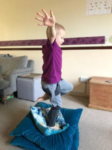 Whole body exercises and gross motor skill exercises for children with disabilities
