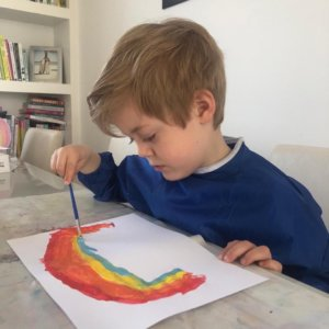 Painting and colouring is a relaxing way to develop hand/eye coordination