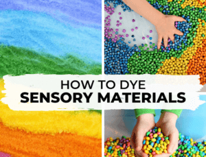 How to dye sensory materials for messy play
