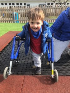 Walking exercises for children with mild physical disabilities