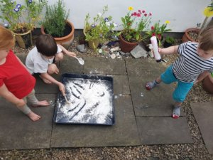 Dry messy play ideas for children with syndromes