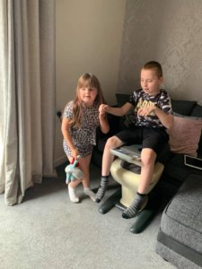 The Ijoy - great for physically disabled children. Two siblings playing together.
