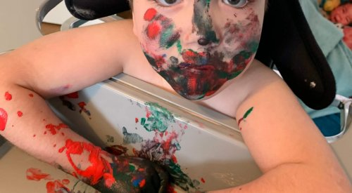 Messy play activities with paint